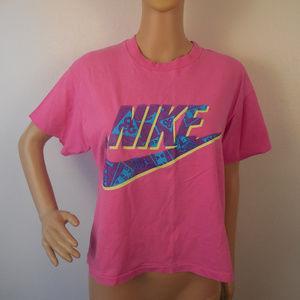Vtg 90s Nike Crop Top T Shirt Tee 80s Gray Tag USA